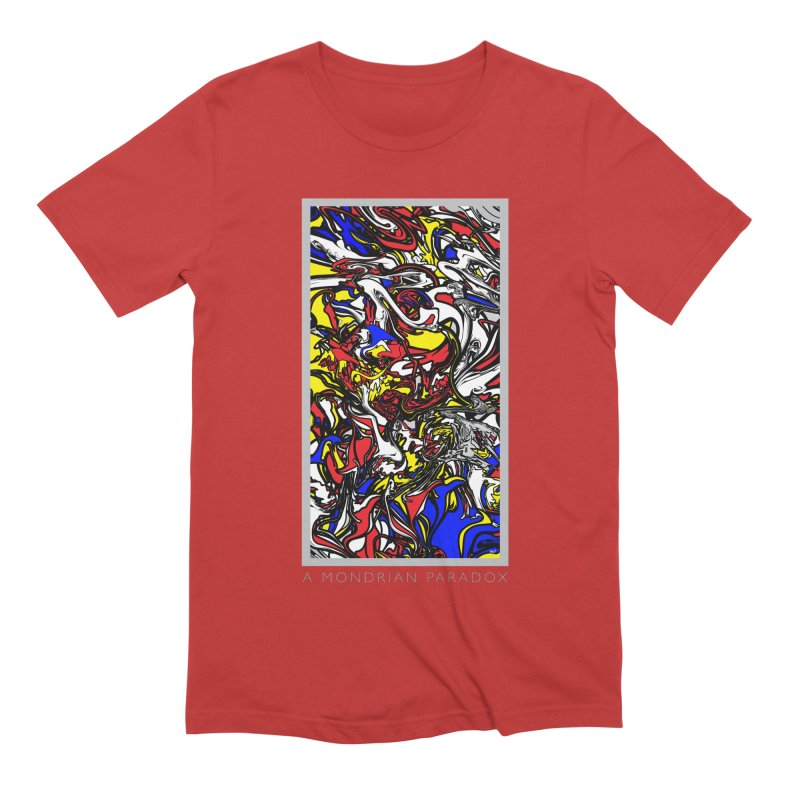 A MONDRIAN PARADOX Men's Extra Soft T-Shirt by mu's Artist Shop