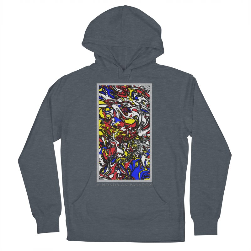 A MONDRIAN PARADOX Men's French Terry Pullover Hoody by mu's Artist Shop