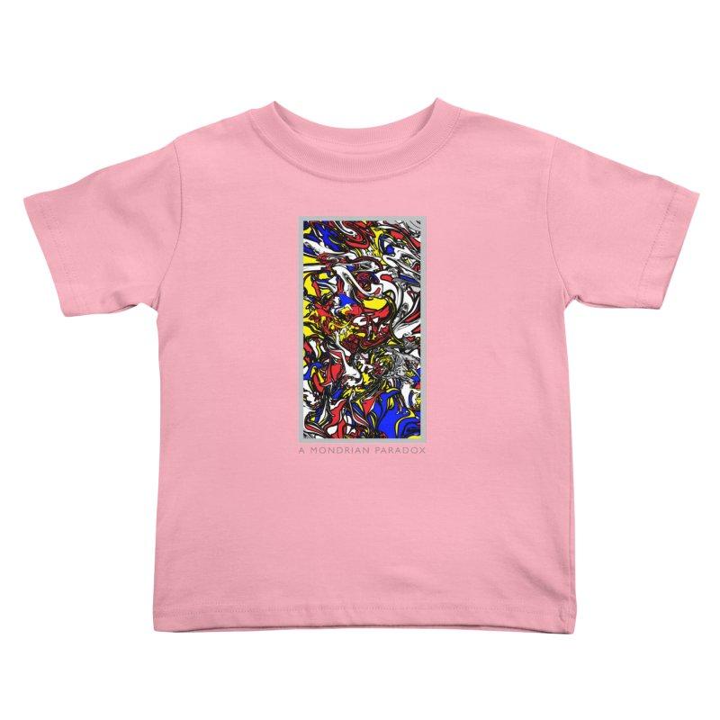 A MONDRIAN PARADOX Kids Toddler T-Shirt by mu's Artist Shop