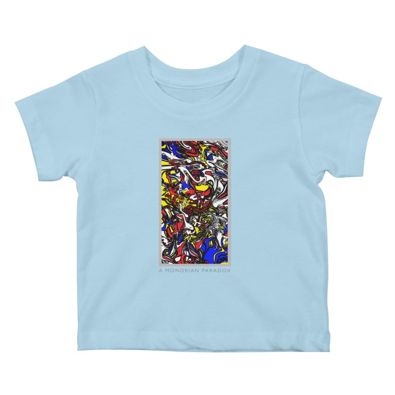 A MONDRIAN PARADOX Kids Baby T-Shirt by mu's Artist Shop