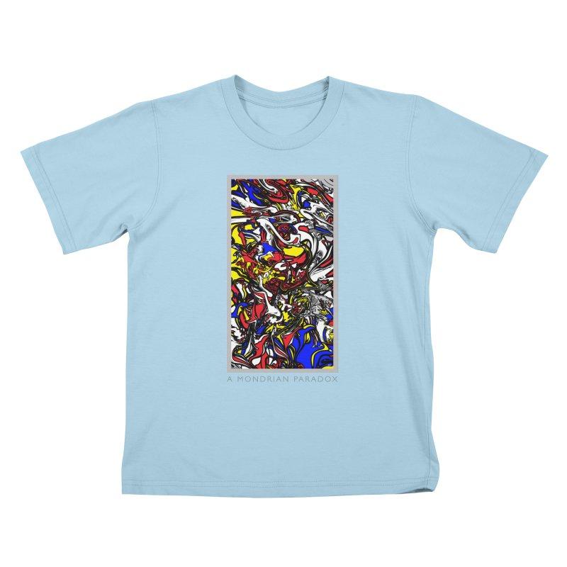 A MONDRIAN PARADOX Kids T-Shirt by mu's Artist Shop