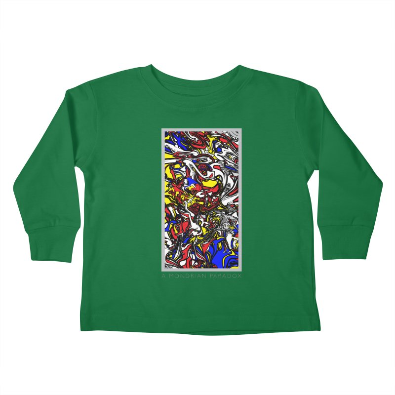 A MONDRIAN PARADOX Kids Toddler Longsleeve T-Shirt by mu's Artist Shop