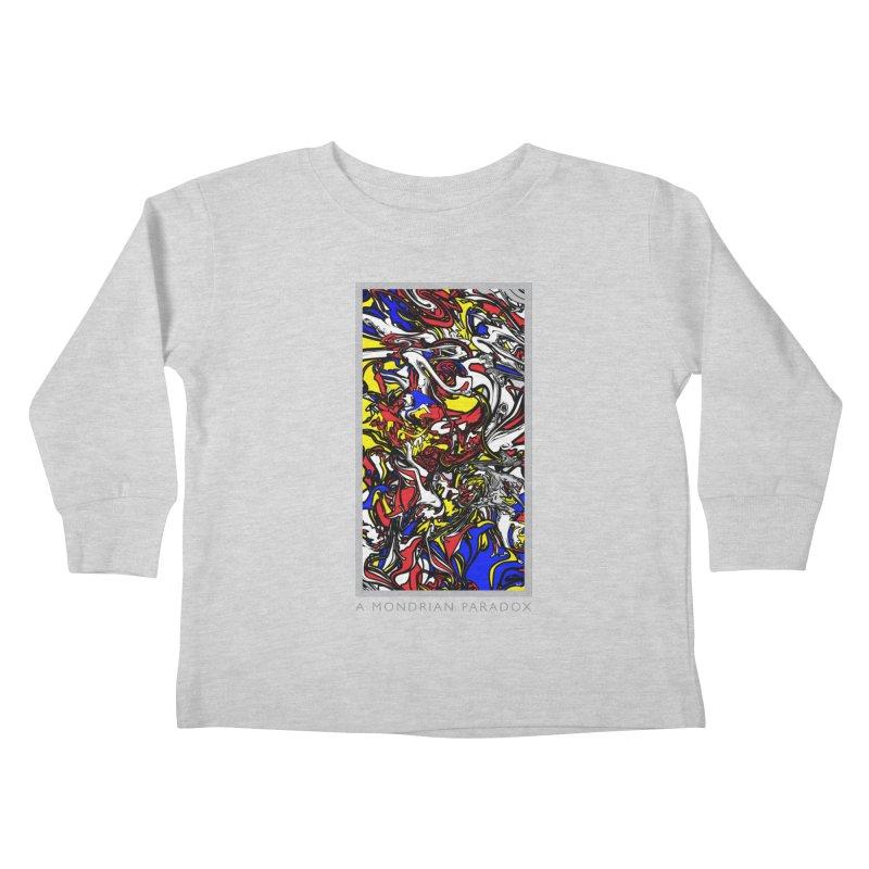 A MONDRIAN PARADOX Kids Toddler Longsleeve T-Shirt by mu's Artist Shop
