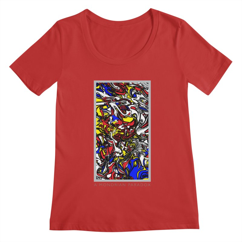 A MONDRIAN PARADOX Women's Regular Scoop Neck by mu's Artist Shop