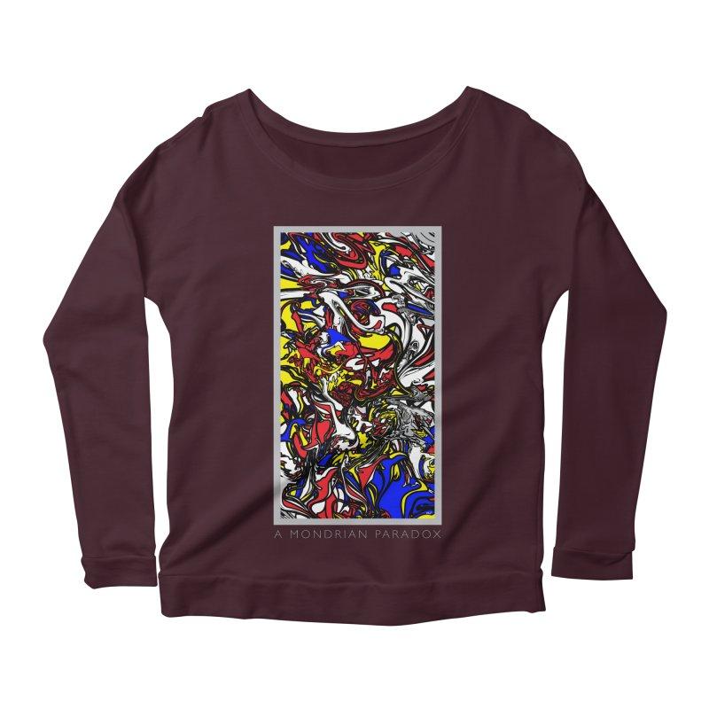 A MONDRIAN PARADOX Women's Scoop Neck Longsleeve T-Shirt by mu's Artist Shop