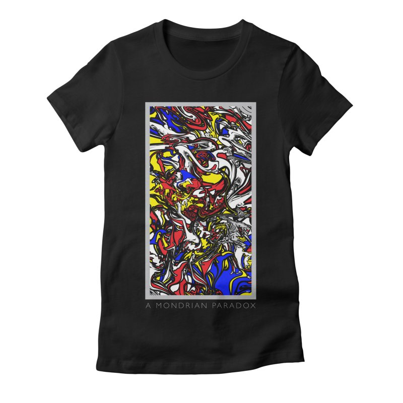 A MONDRIAN PARADOX Women's Fitted T-Shirt by mu's Artist Shop