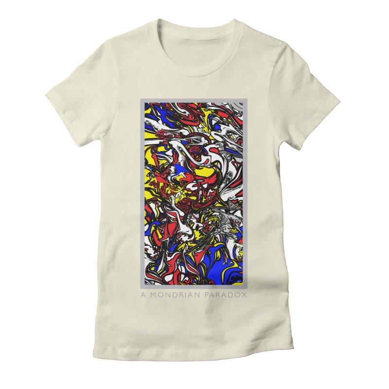 A MONDRIAN PARADOX Women's Fitted T-Shirt by mu's Artist Shop
