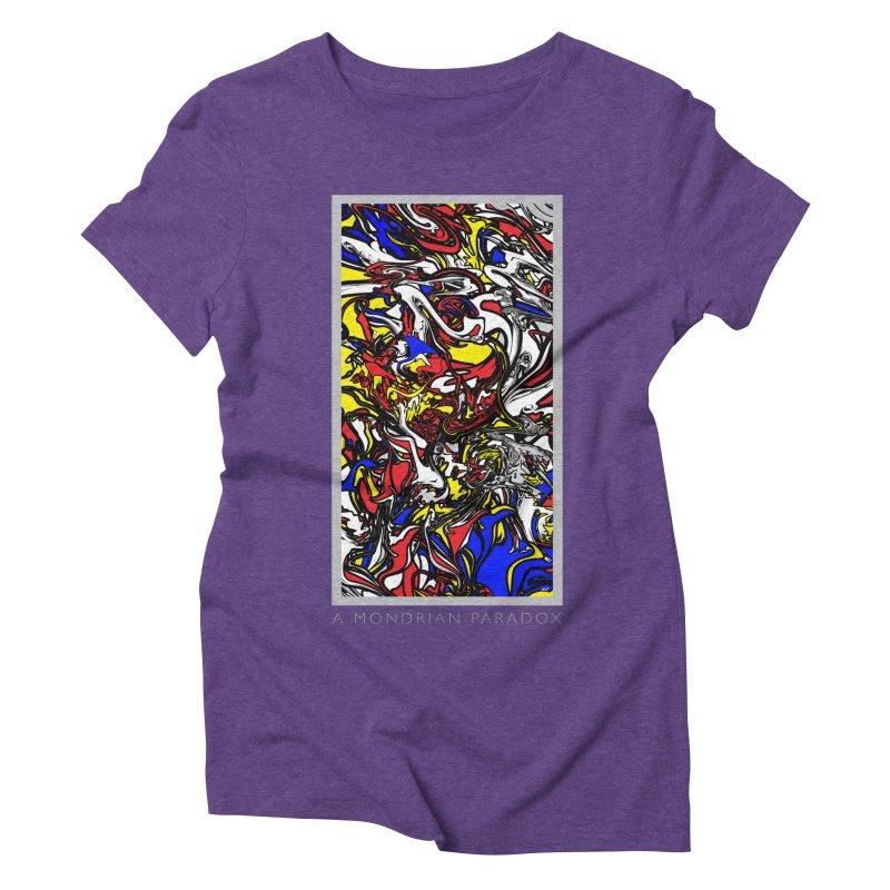 A MONDRIAN PARADOX Women's Triblend T-Shirt by mu's Artist Shop