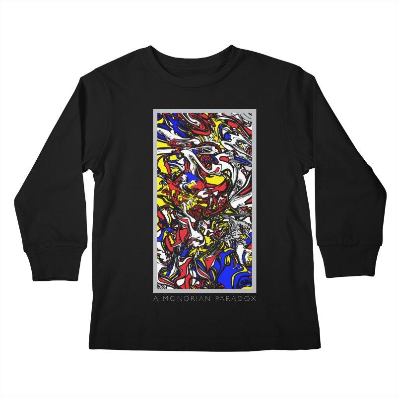 A MONDRIAN PARADOX Kids Longsleeve T-Shirt by mu's Artist Shop