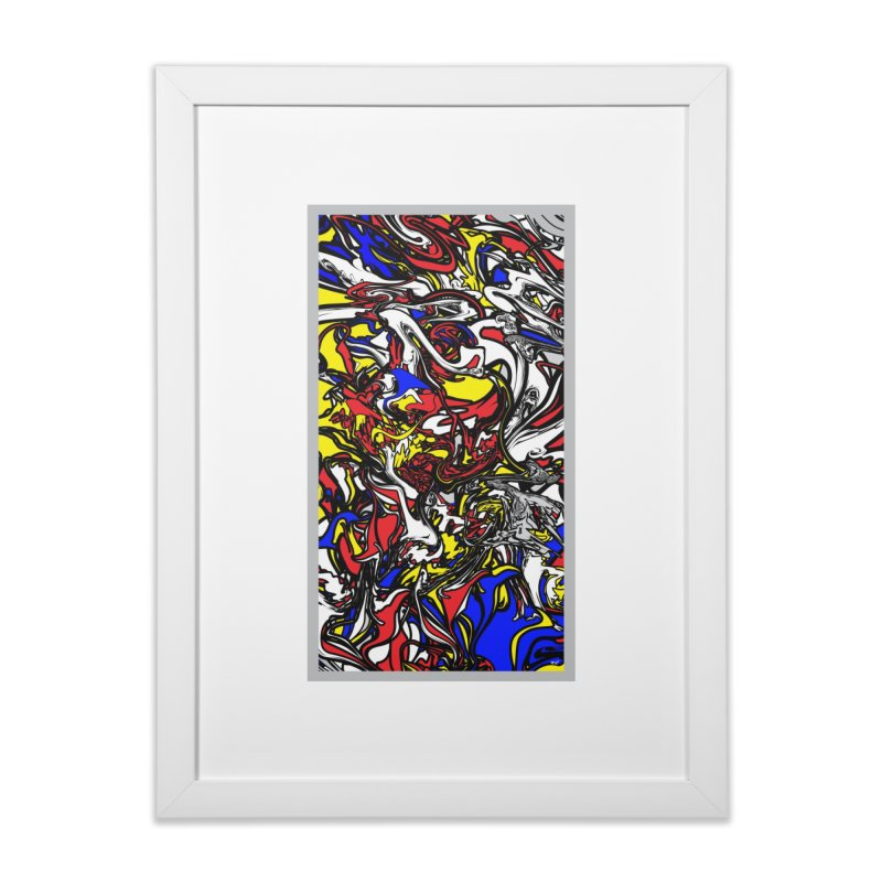 A MONDRIAN PARADOX in Framed Fine Art Print White by mu's Artist Shop