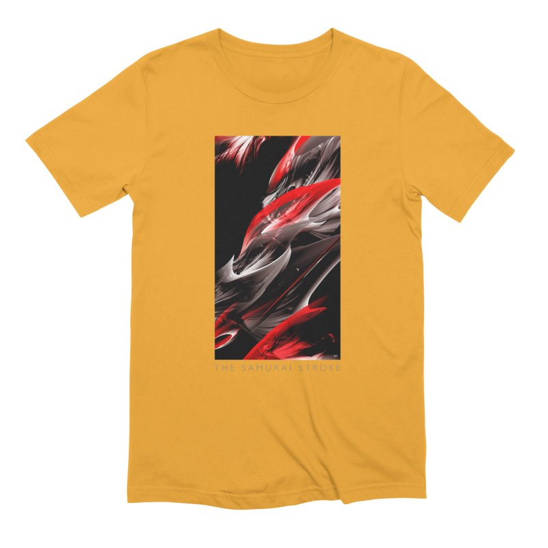 THE SAMURAI STROKE in Men's Extra Soft T-Shirt Gold by mu's Artist Shop