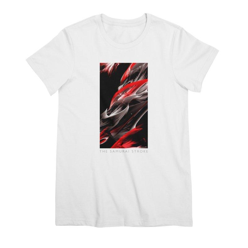 THE SAMURAI STROKE Women's Premium T-Shirt by mu's Artist Shop