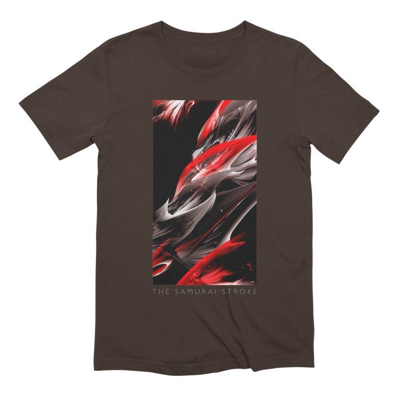 THE SAMURAI STROKE Men's Extra Soft T-Shirt by mu's Artist Shop