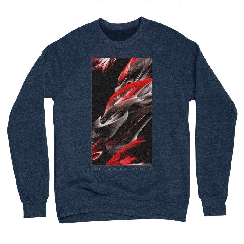 THE SAMURAI STROKE Men's Sponge Fleece Sweatshirt by mu's Artist Shop