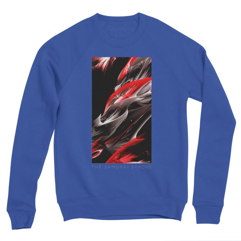 THE SAMURAI STROKE Men's Sponge Fleece Sweatshirt by mu's Artist Shop