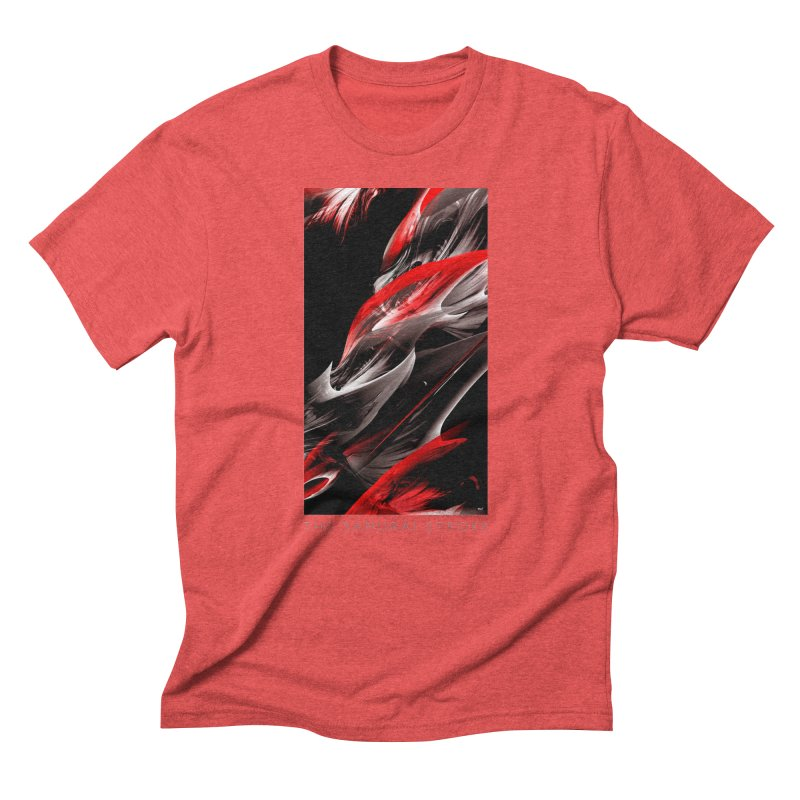 THE SAMURAI STROKE in Men's Triblend T-Shirt Chili Red by mu's Artist Shop