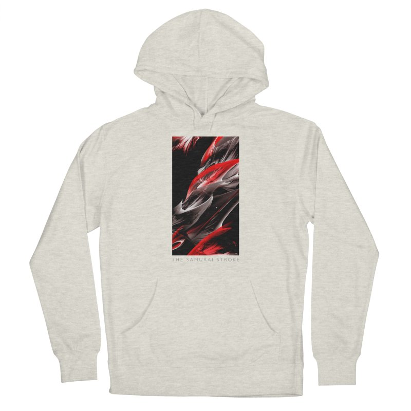 THE SAMURAI STROKE Women's French Terry Pullover Hoody by mu's Artist Shop