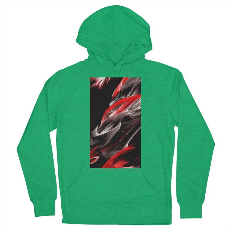 THE SAMURAI STROKE Men's French Terry Pullover Hoody by mu's Artist Shop