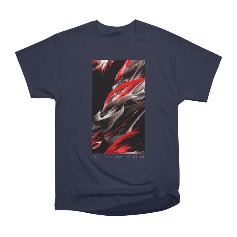 THE SAMURAI STROKE Men's Heavyweight T-Shirt by mu's Artist Shop