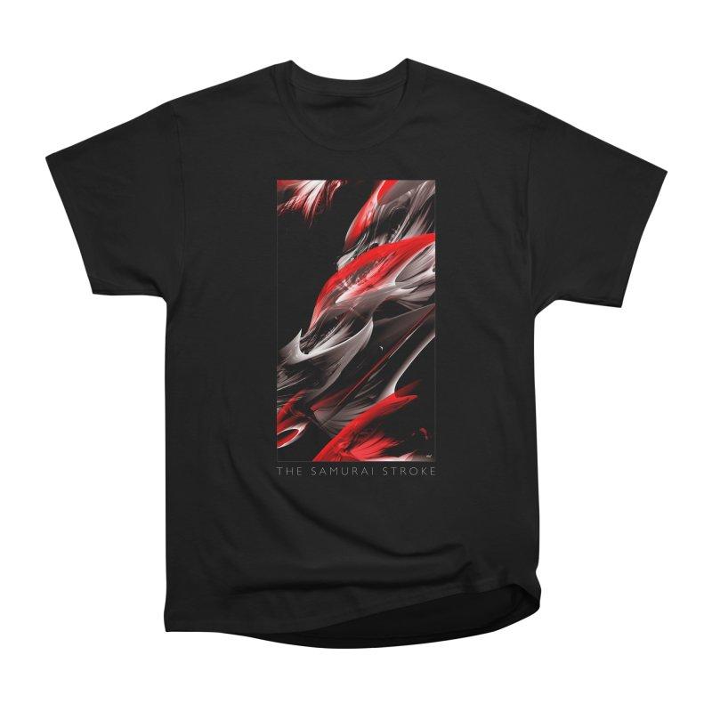 THE SAMURAI STROKE Women's Heavyweight Unisex T-Shirt by mu's Artist Shop