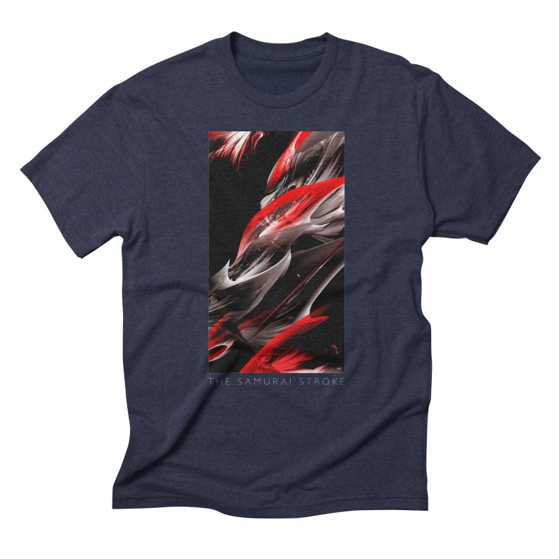 THE SAMURAI STROKE Men's Triblend T-Shirt by mu's Artist Shop