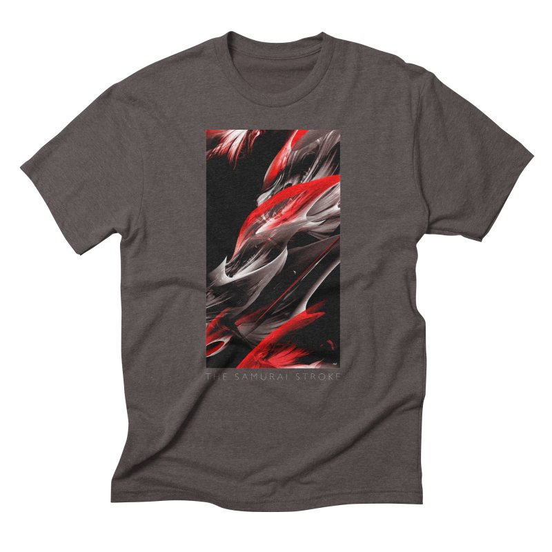 THE SAMURAI STROKE Men's Triblend T-Shirt by mu's Artist Shop