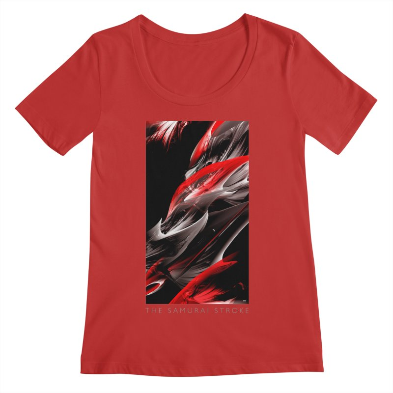 THE SAMURAI STROKE Women's Scoop Neck by mu's Artist Shop