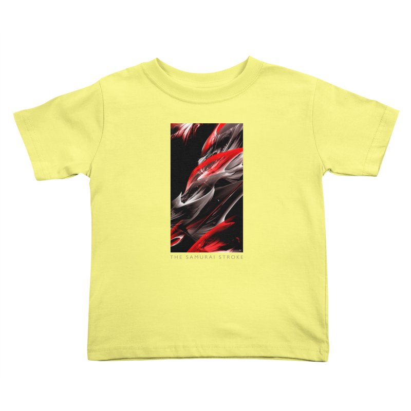 THE SAMURAI STROKE Kids Toddler T-Shirt by mu's Artist Shop