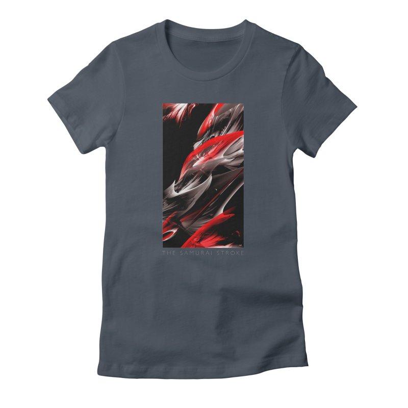 THE SAMURAI STROKE Women's T-Shirt by mu's Artist Shop
