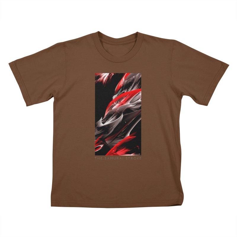 THE SAMURAI STROKE Kids T-Shirt by mu's Artist Shop