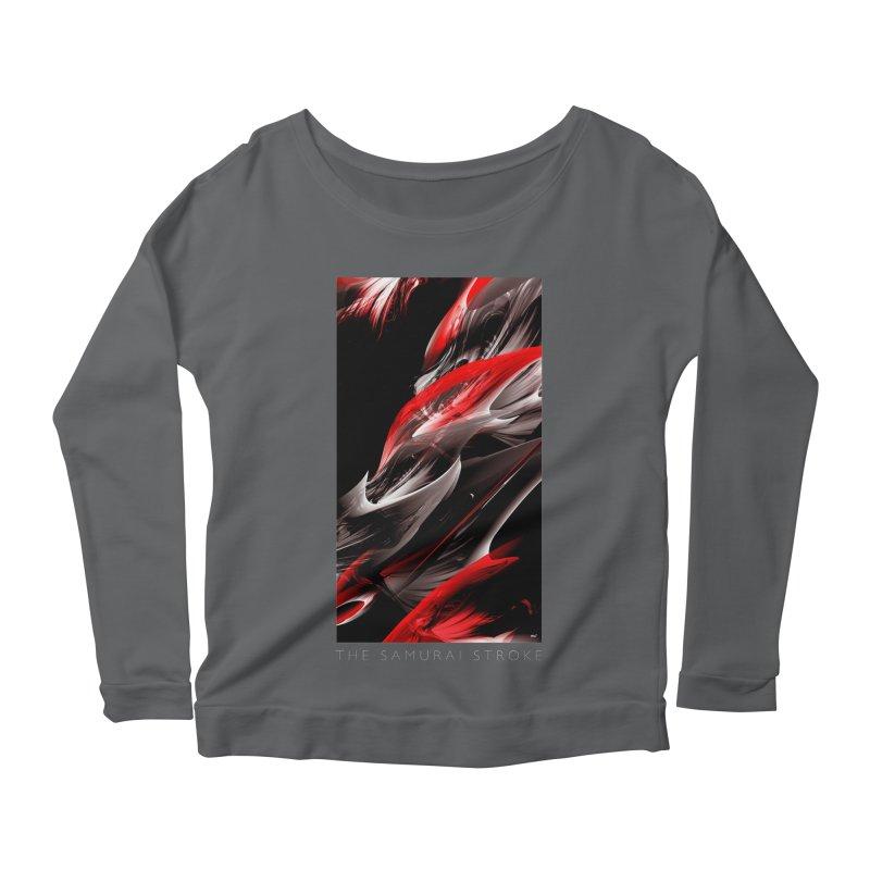 THE SAMURAI STROKE Women's Longsleeve T-Shirt by mu's Artist Shop