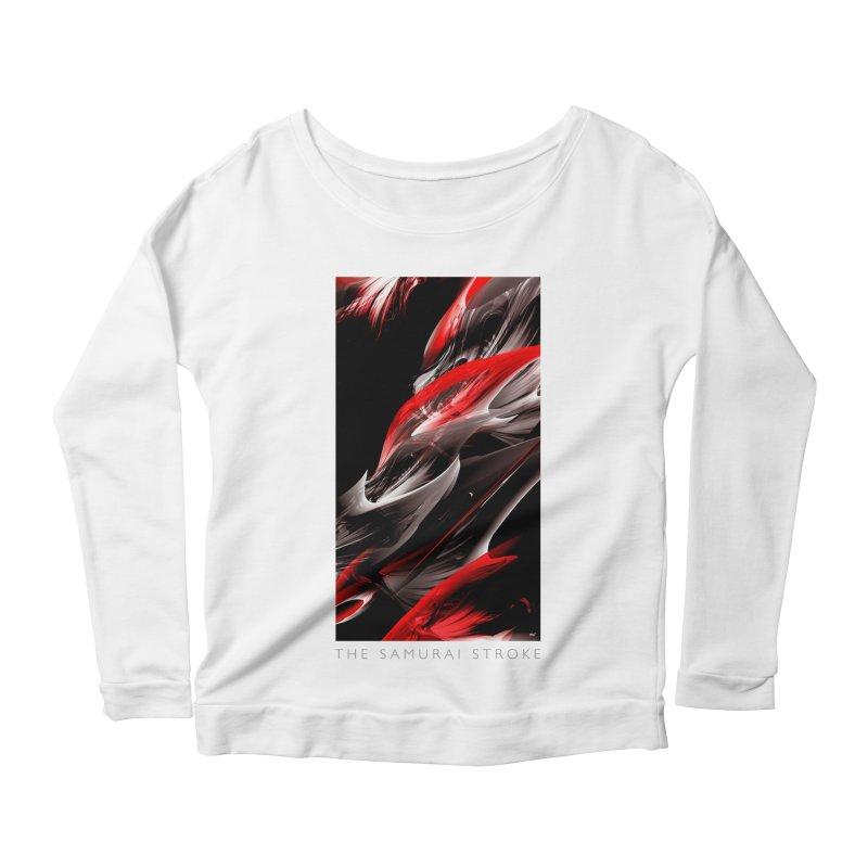 THE SAMURAI STROKE Women's Scoop Neck Longsleeve T-Shirt by mu's Artist Shop
