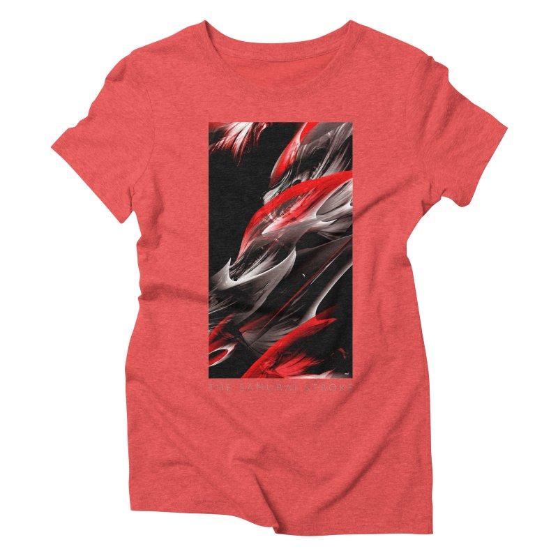 THE SAMURAI STROKE Women's Triblend T-Shirt by mu's Artist Shop