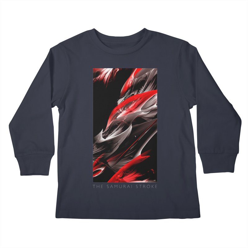 THE SAMURAI STROKE Kids Longsleeve T-Shirt by mu's Artist Shop