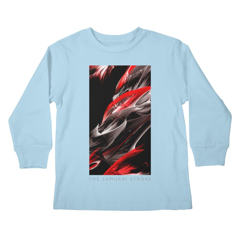 THE SAMURAI STROKE Kids Longsleeve T-Shirt by mu's Artist Shop