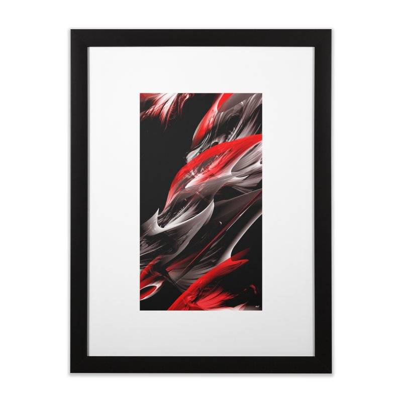 THE SAMURAI STROKE Home Framed Fine Art Print by mu's Artist Shop