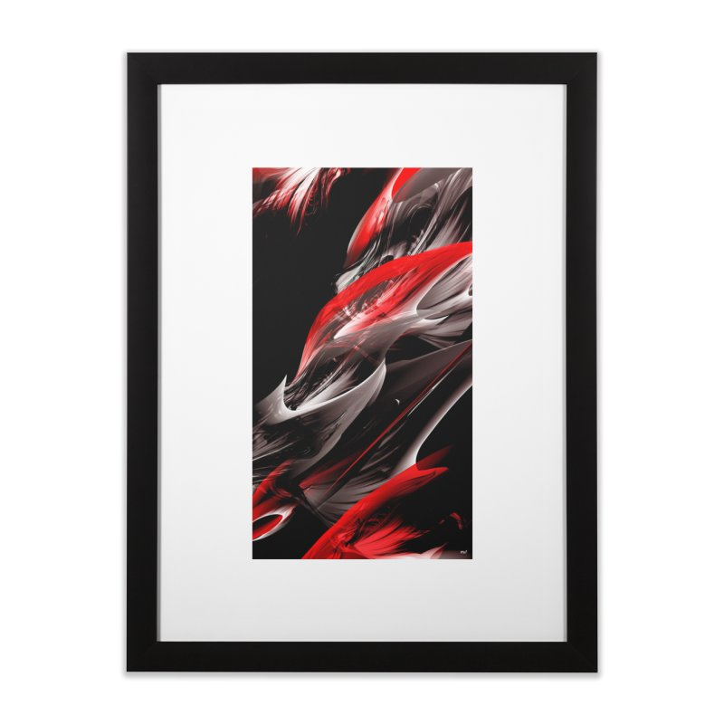 THE SAMURAI STROKE in Framed Fine Art Print Black by mu's Artist Shop