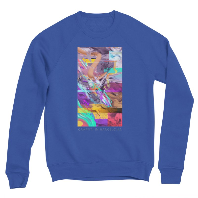 GRAFFITI IN BARCELONA in Men's Sponge Fleece Sweatshirt Royal Blue by mu's Artist Shop