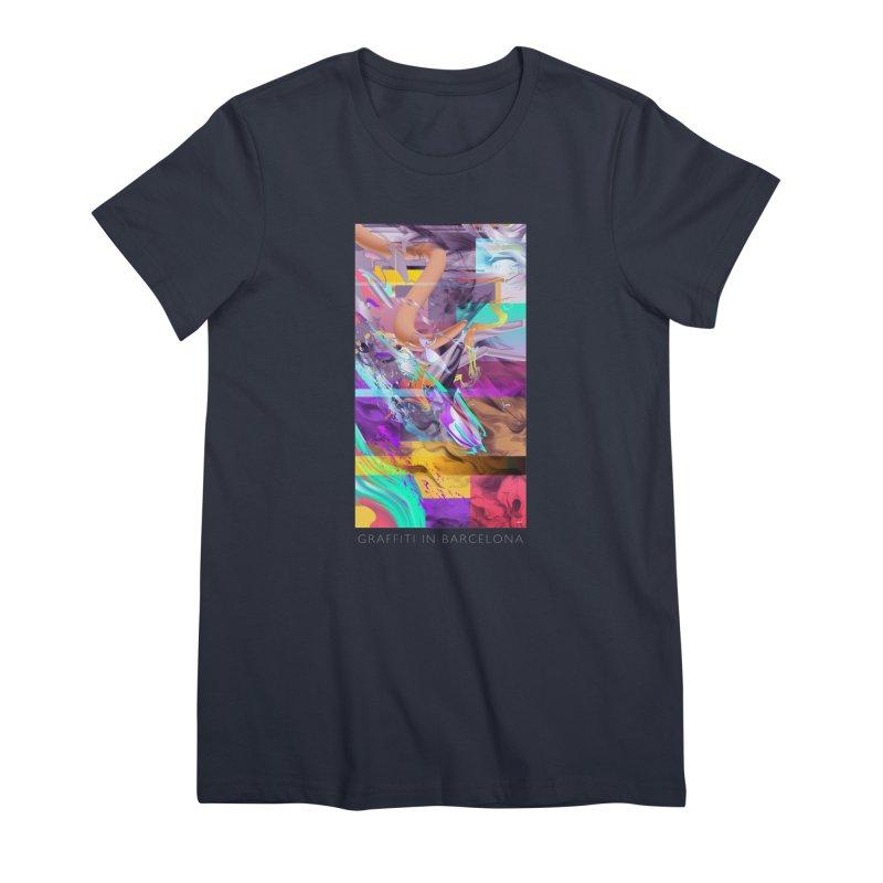 GRAFFITI IN BARCELONA Women's Premium T-Shirt by mu's Artist Shop