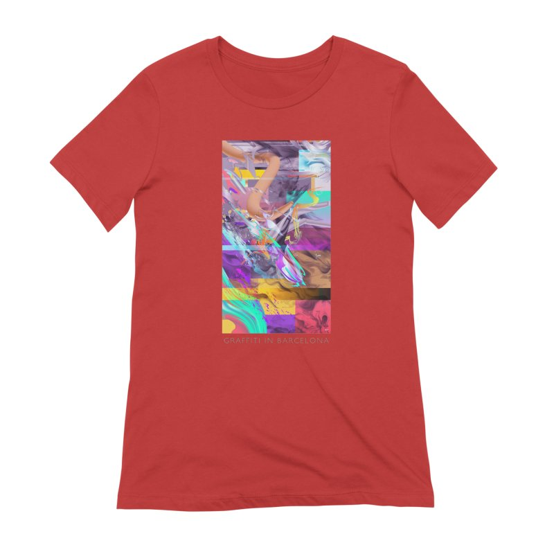 GRAFFITI IN BARCELONA Women's Extra Soft T-Shirt by mu's Artist Shop