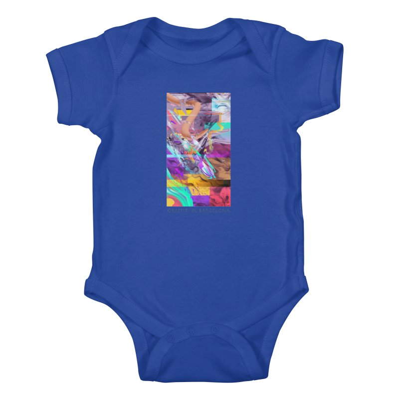 GRAFFITI IN BARCELONA Kids Baby Bodysuit by mu's Artist Shop
