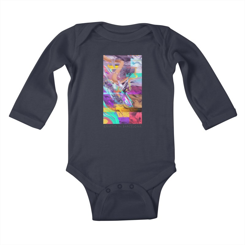 GRAFFITI IN BARCELONA Kids Baby Longsleeve Bodysuit by mu's Artist Shop