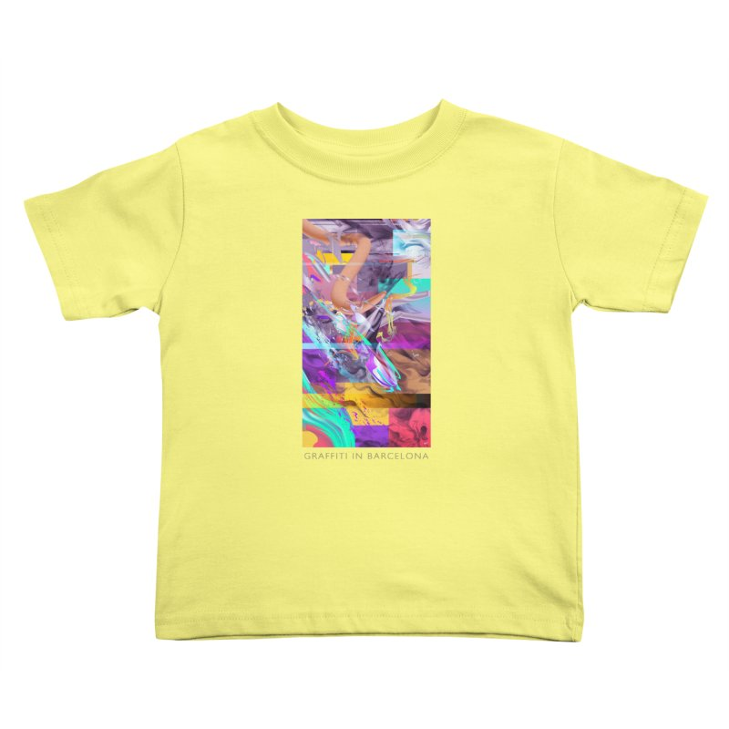 GRAFFITI IN BARCELONA Kids Toddler T-Shirt by mu's Artist Shop