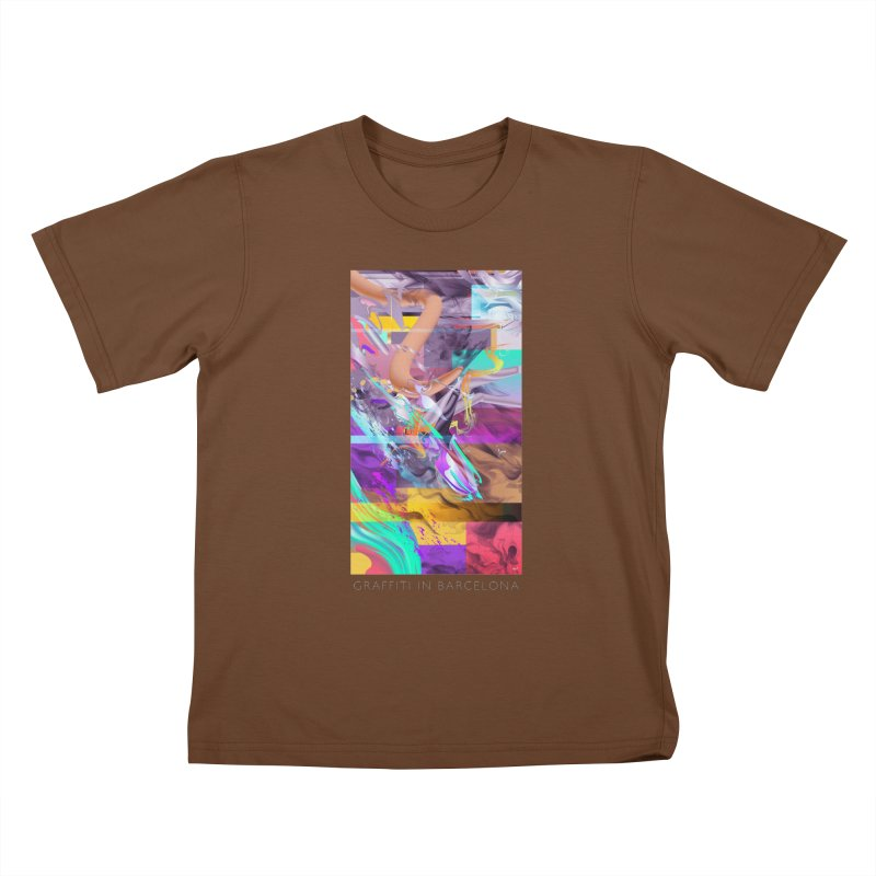 GRAFFITI IN BARCELONA Kids T-Shirt by mu's Artist Shop