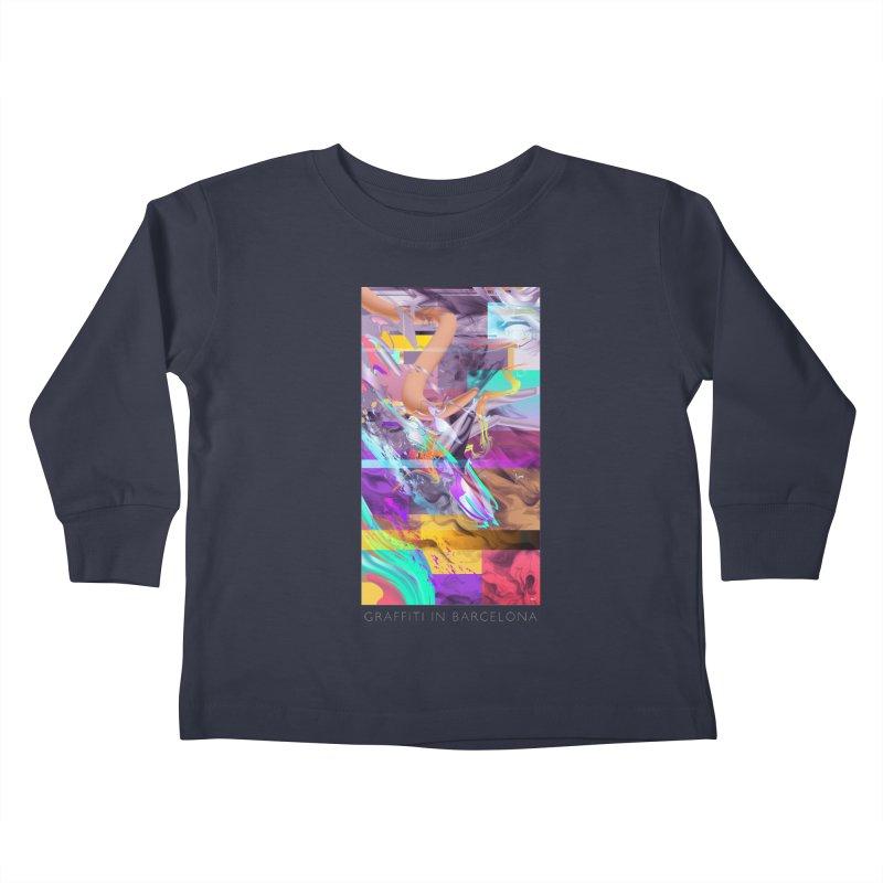GRAFFITI IN BARCELONA Kids Toddler Longsleeve T-Shirt by mu's Artist Shop