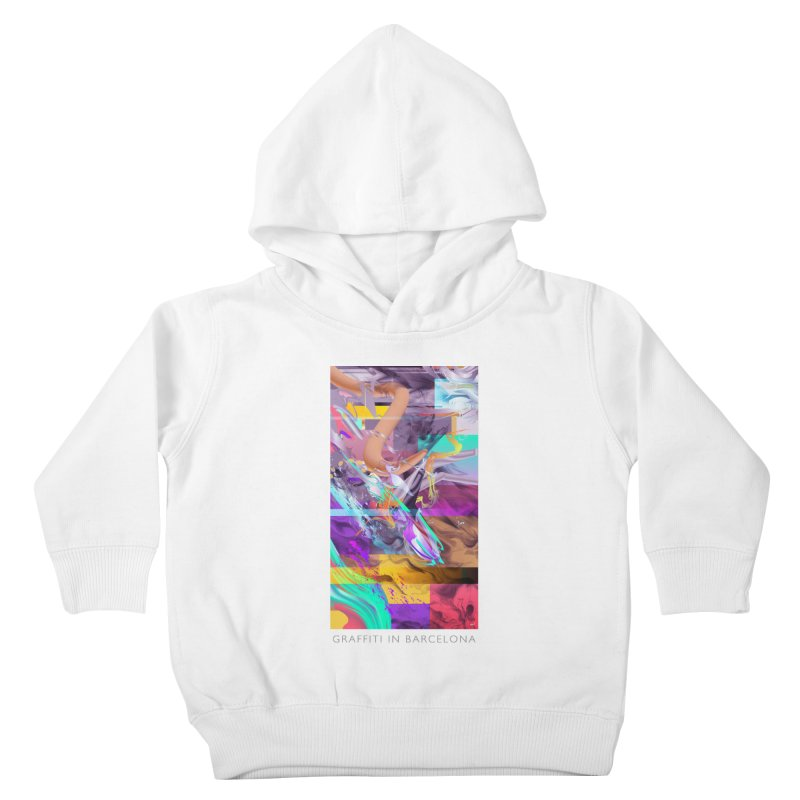 GRAFFITI IN BARCELONA Kids Toddler Pullover Hoody by mu's Artist Shop