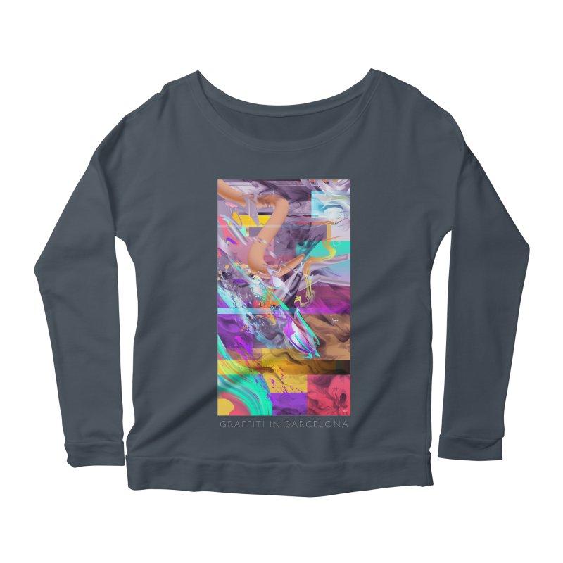 GRAFFITI IN BARCELONA Women's Scoop Neck Longsleeve T-Shirt by mu's Artist Shop
