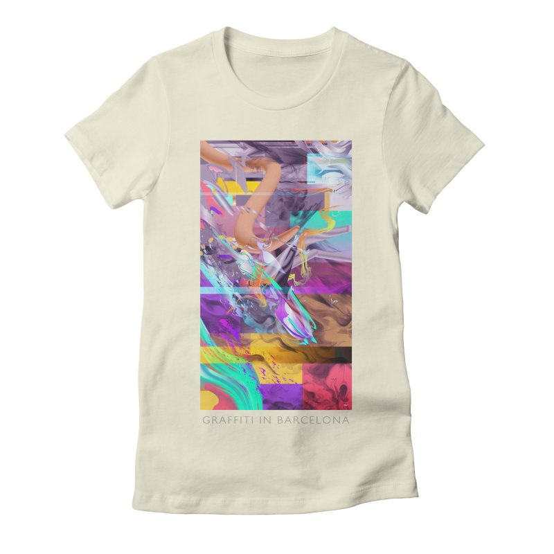 GRAFFITI IN BARCELONA Women's Fitted T-Shirt by mu's Artist Shop