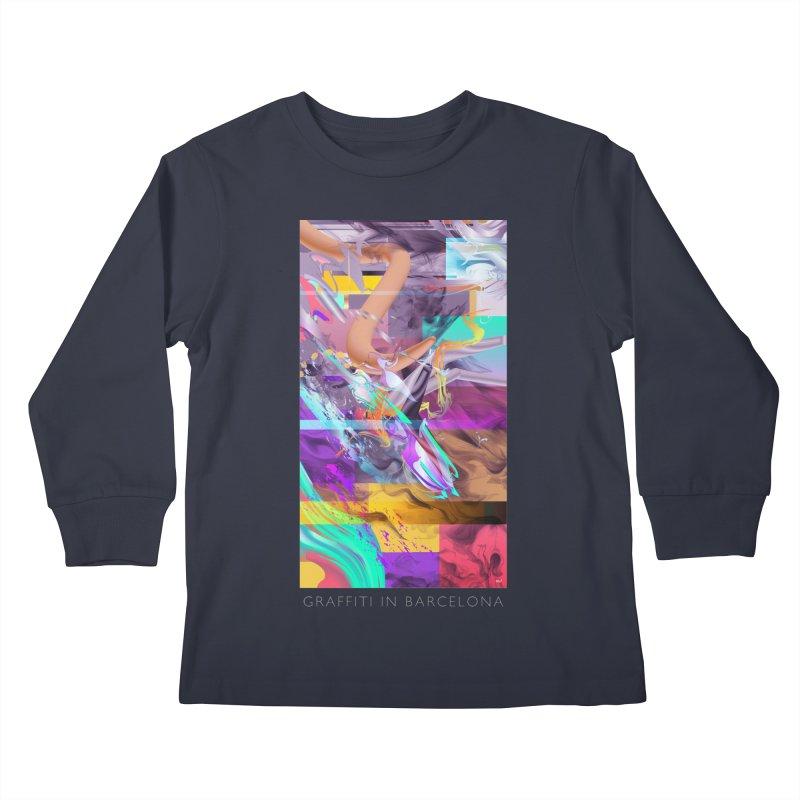 GRAFFITI IN BARCELONA Kids Longsleeve T-Shirt by mu's Artist Shop