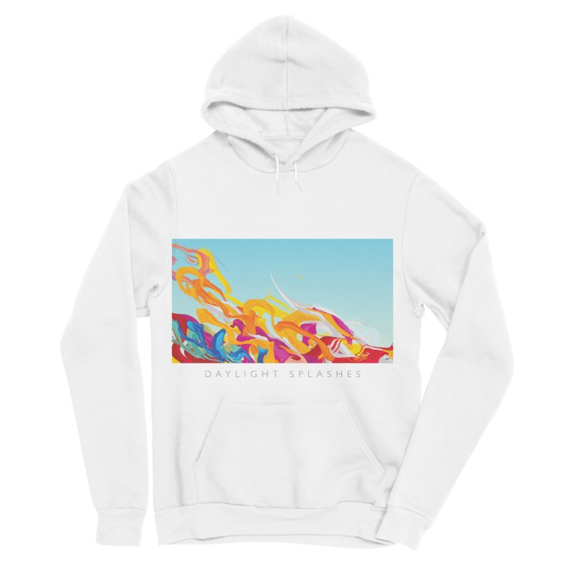 DAYLIGHT SPLASHES in Women's Sponge Fleece Pullover Hoody White by mu's Artist Shop